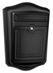 Maison Powder-Coated Cast Aluminum Locking Wall-Mount Mailbox in Black