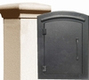 Manchester Security Locking Stucco Column Mailbox with Plain Door - Stucco Column Included (Choose Colors)