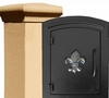 Manchester Security Locking Stucco Column Mailbox with Fleur de Lis Emblem - Stucco Column Included (Choose Colors)