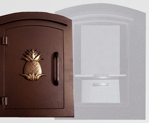 Decorative Locking Column Mount Mailboxes