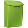 Marina Powder-Coated Steel Wall-Mount Mailbox in Lime Green