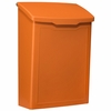 Marina Powder-Coated Steel Wall-Mount Mailbox in Orange