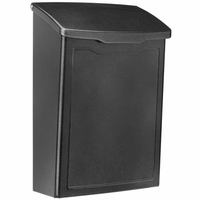 Marina Powder-Coated Steel Wall-Mount Mailbox in Pewter