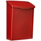 Marina Powder-Coated Steel Wall-Mount Mailbox in Red