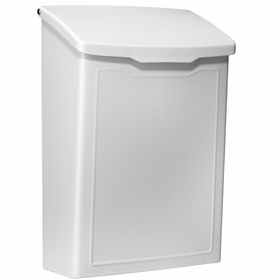 Marina Powder-Coated Steel Wall-Mount Mailbox in White