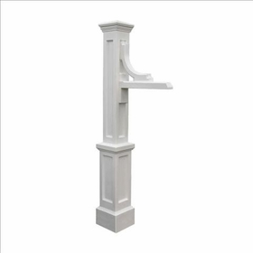Woodhaven Sign Post in White (post only - address plaques sold separately)