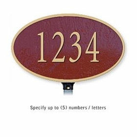 Salsbury 1330MGL Cast Aluminum Address Plaque