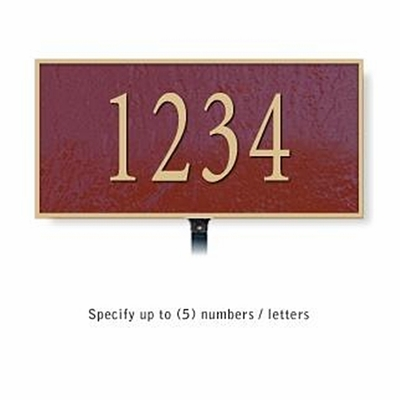 Salsbury 1310MGL Cast Aluminum Address Plaque