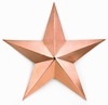 "Medium Copper Barn Star - 23""W x 23""H"