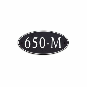 Medium Wall or Rock Oval Address Plaque Nickel Black - Rounded