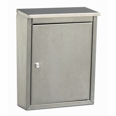 Metropolis Locking Wall Mount Mailbox with Brushed Satin Finish