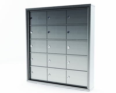 Mini Storage Cabinet Lockers - 15 Doors Surface Mount