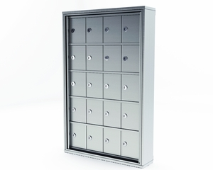 Mini Storage Cabinet Lockers - 20 Doors Surface Mount