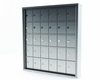 Mini Storage Cabinet Lockers - 30 Doors Surface Mount