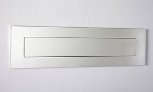 "Mirror Polished Stainless Steel Contemporary Door Mail Slot (small) 11.8"" x 3"""