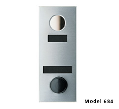 Apartment id Plate Door Chime w/ One-Way Viewing Mirror
