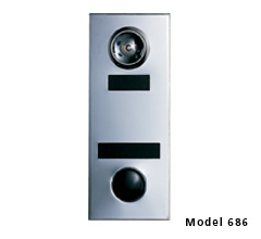 Apartment id Plate Door Chime w/ One Way Wide Angle Viewing Lens