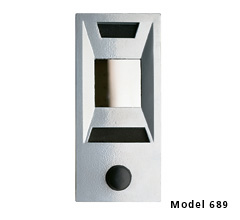 Modern, Deep Recessed Door Chime w/ One Way Viewing Mirror