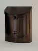 Modern Steel Wall Mount Bronze Mailbox