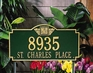 Monogram Estate Lawn Address Sign - Two Line