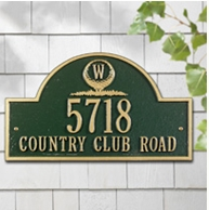 Monogram Golf Arch - Standard Three Line Wall Plaque