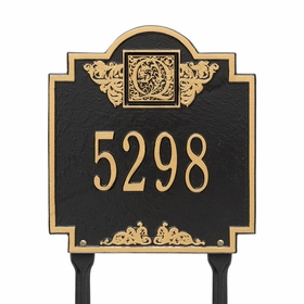 Monogram Standard Lawn Address Sign - One Line