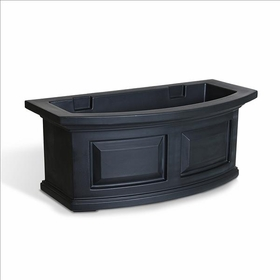 Nantucket 2Ft Wide Window Flower Box - Black