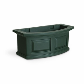 Nantucket 2Ft Wide Window Flower Box - Green