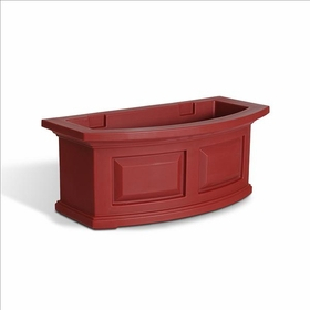 Nantucket 2Ft Wide Window Flower Box - Red