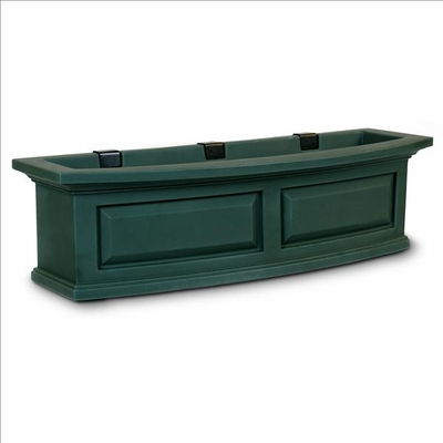 Nantucket 3Ft Wide Window Flower Box - Green