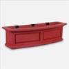 Nantucket 3Ft Wide Window Flower Box - Red