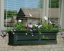 Nantucket 5Ft Wide Window Flower Box - Clay