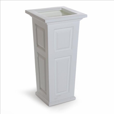 Nantucket Tall Planter - White