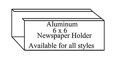 """Newspaper Holder 6"""" x 6"""" for Mailbox Systems"""
