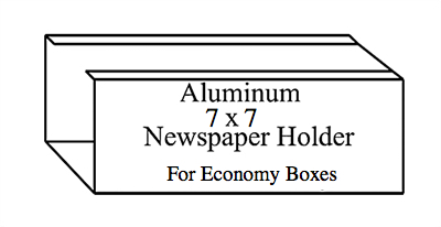 """Newspaper Holder 7"""" x 7"""" for Mailbox Systems"""