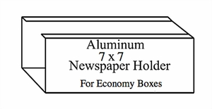 "Newspaper Holder 7"" x 7"" for Mailbox Systems"