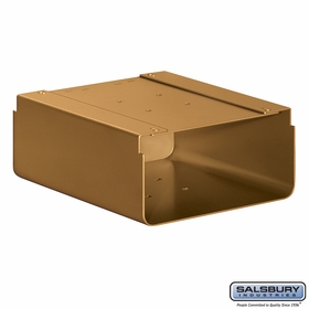 Salsbury 4315D-BRS Newspaper Holder For Designer Roadside Mailbox Brass Finish