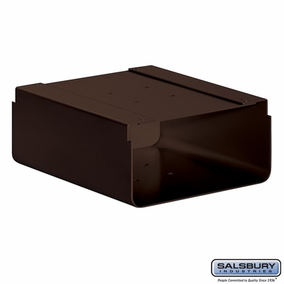 Salsbury 4315D-BRZ Newspaper Holder For Designer Roadside Mailbox Bronze Finish