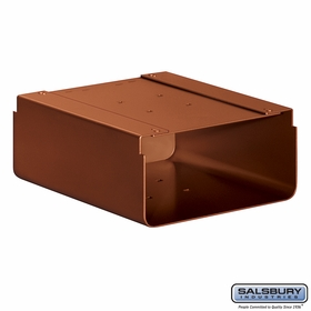 Salsbury 4315D-COP Newspaper Holder For Designer Roadside Mailbox Copper Finish
