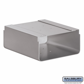 Salsbury 4315SLV Newspaper Holder For Roadside Mailbox Silver