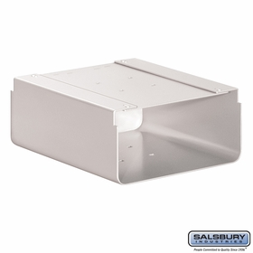 Salsbury 4315WHT Newspaper Holder For Roadside Mailbox White