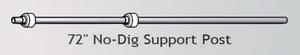 """No-Dig Internal Support Post 72"""" H Galvanized Pipe with poly-spacers"""