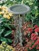 Whitehall Oakleaf Birdbath and Pedestal - Copper Verdi