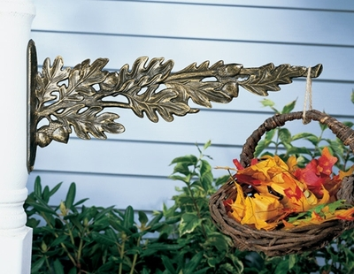 Whitehall Oakleaf Nature Hook - French Bronze