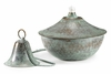 Oil Lamp Large Hammered Blue Verde