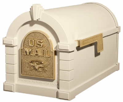 Original Keystone Series Mailbox - Almond with Polished Brass Eagle