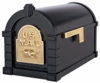 Original Keystone Series Mailbox - Black with Polished Brass Eagle