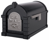 Original Keystone Series Mailbox - Black with Satin Nickel Eagle