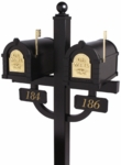 Double Mount Mailbox Systems