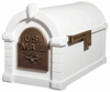 Original Keystone Series Mailbox - White with Antique Bronze Eagle